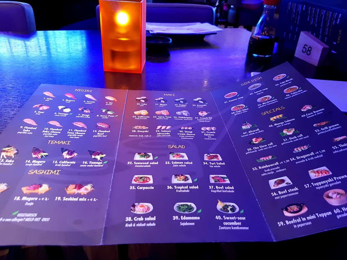 menu kaart saison restaurant