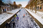centrum sloten in de winter