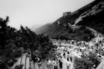 Chineese muur Badeling in zwart/wit
