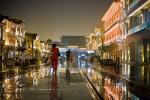 regenachtige avond in Jiaxing