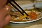 eten met stokjes