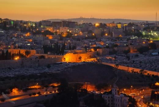 Jeruzalem in de avond