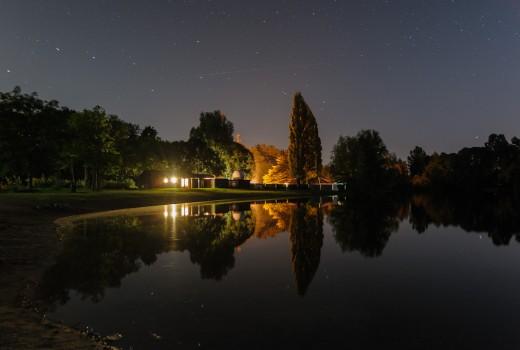 sterrenwacht in de nacht