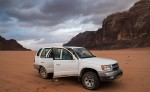 4 x 4 vehicle in Wadi Rum