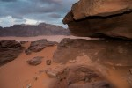 Wadi Rum sunset on a sanddune