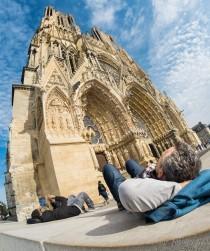 NotreDame-Reims-fisheye-lens