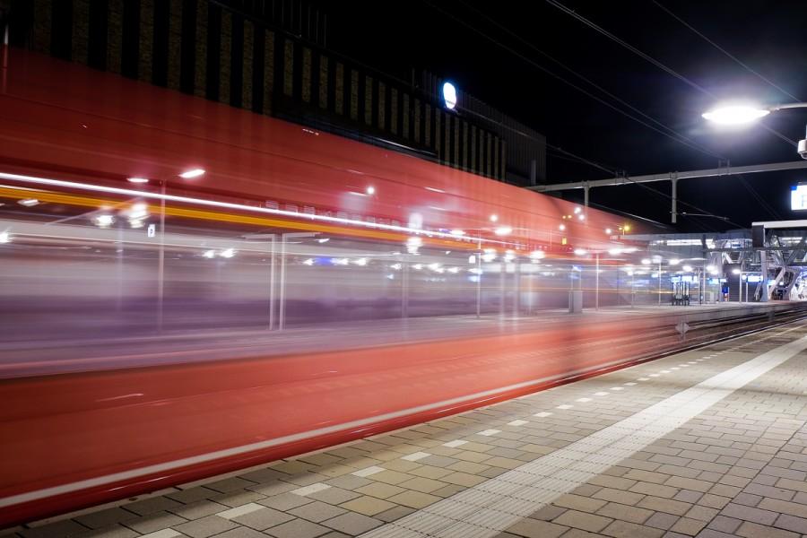 trein nachtfotografie