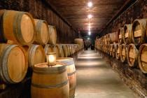 wijnvaten in de kelder