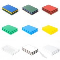 gekleurde kunststofplaten